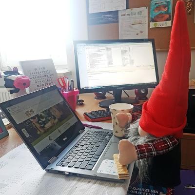 Skrzacik w biurze :)